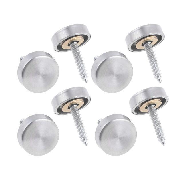 16 mm Edelstahl Spiegel Naegel Schraubverschluss (8 Stuecke) DK X1H4