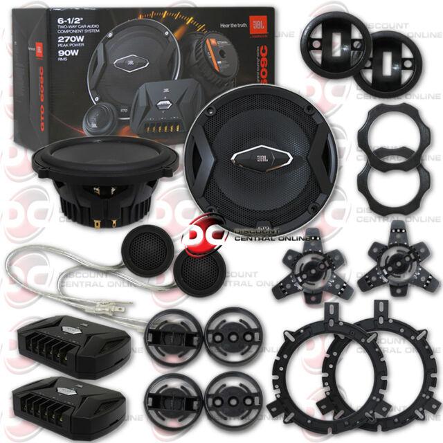 Hifonics BZE65C 6.5 Inch 2-Way Car Audio Component System Speakers