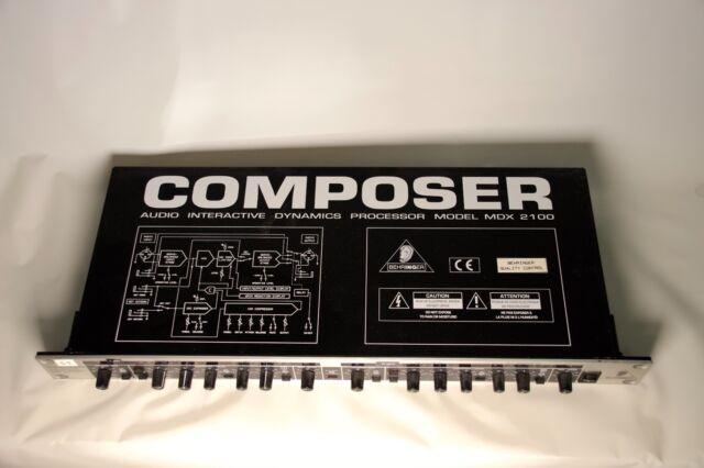 Behringer MDX 2100 Composer Interactive Dynamics Processor