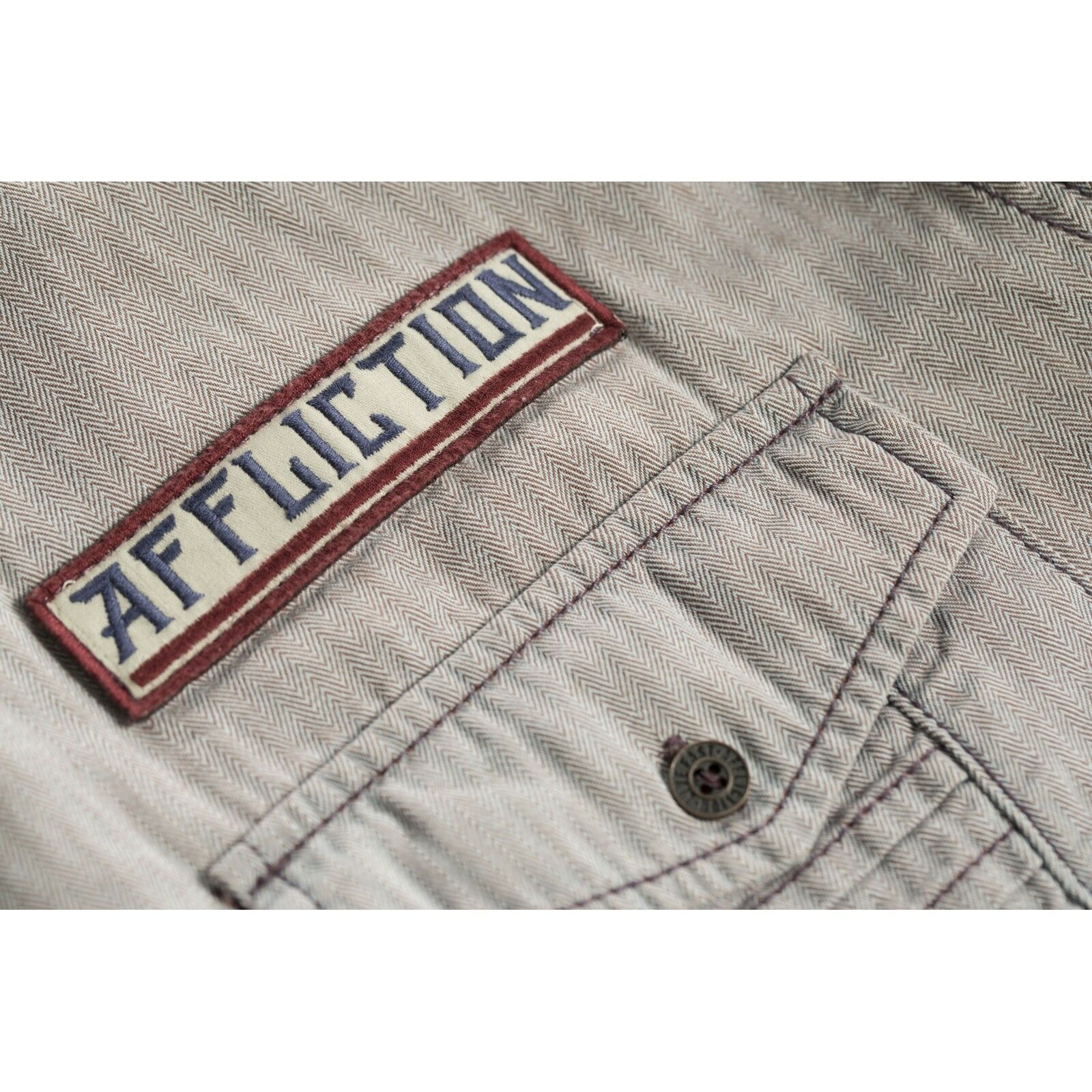 AFFLICTION Hemd Tribbett Grau Hemden | Fein Verarbeitet  Verarbeitet  Verarbeitet  4849a7