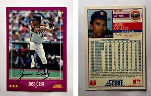 Jose-Cruz-Signed-1988-Score-28-Card-Houston-Astros-Auto-Autograph