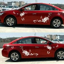1 Set Butterfly And Flower Stickers For Car Body Universal Vinyl Decal White