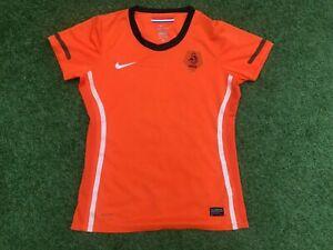 Ladies NIKE Holland NETHERLANDS Home FOOTBALL Shirt (UK 12-14) *NICE COND*