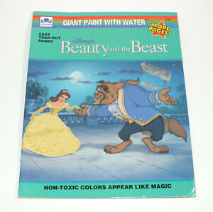 Vintage Walt Disney Beauty And The Beast Paint Water Color 1991 Golden Book Ebay