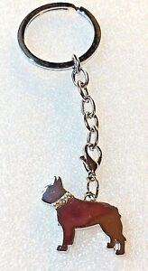Boston Terrier Dog Pup Bag Purse Charm Dangle Zipper Pull Jewelry