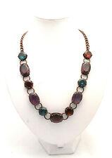 Collana lunga Sodini Bijoux con pietre in metallo brunito