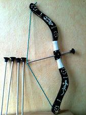 Arc et ( 5  fleches ) taille 53 cm  en bois ( artisan createur)
