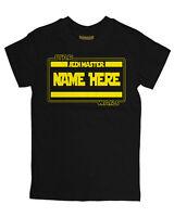Baby T Shirt BOYS 'PERSONALISE WITH NAME' STARWARS Movie Tee Slogan Custom Gift