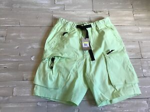 100-MSRP-Men-039-s-Nike-ACG-Cargo-Short-Bright-Lime-Green-BQ3618-388-Size-SMALL