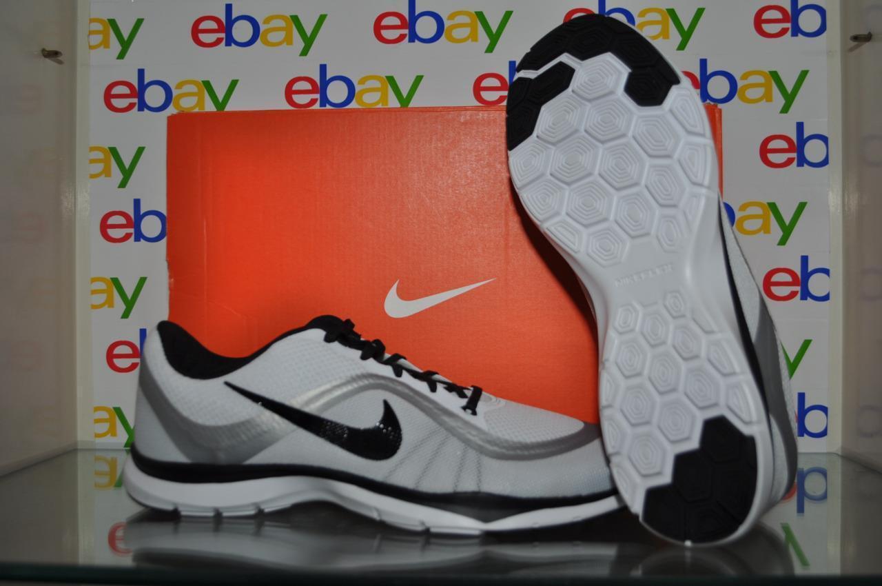 Nike Flex Trainer 6 Womens Training 11 Shoes 831217 102 Size 11 Training White/Black NIB c3cf01