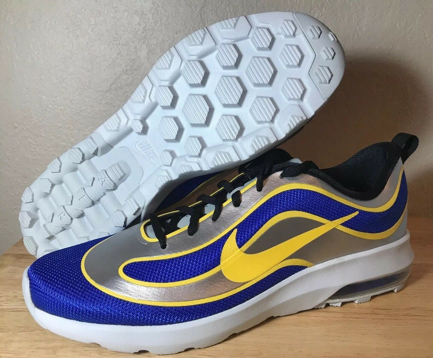 Nike Air Max Mercurial '98 QS SZ 12 Racer blueee Varsity Maize Mens New 850649-470