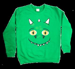 TV Advert Christmas Jumper Commercial Dragon Excitable Edgar Face Sweatshirt