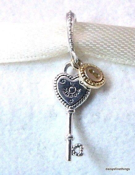 ebd100590 Authentic PANDORA Valentine's Day 14k Key to My Heart Charm Pendant 796593  for sale online   eBay