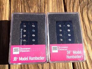 Seymour-Duncan-SH-4-JB-amp-SH-1N-59-Model-BLACK-4-Conductor-Humbucker-Pickup-Set