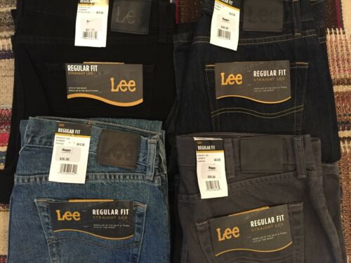 Lee Jeans Men/'s Regular Fit Multiple Colors and Sizes NWT