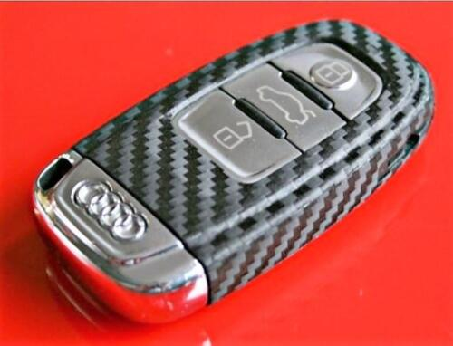 Carbon Fiber Key Audi A4 A5 8K RS S Decal Sticker Decor Coating Fob Wrap Cover