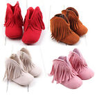 Toddler Infant Moccasin Newborn Baby Girl Shoes Soft Sole Boots Prewalker Tassel