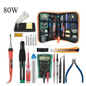 Electric Soldering Iron Gun Tool Kit 60W Welding Desoldering Pump Tool Set US//EU