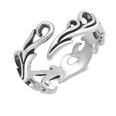USA Seller Wave Ring Sterling Silver 925 Best Price Jewelry Plain Selectable