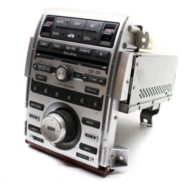 2008 ACURA RL 6 DISC NAVIGATION CD DVD XM SATELLITE