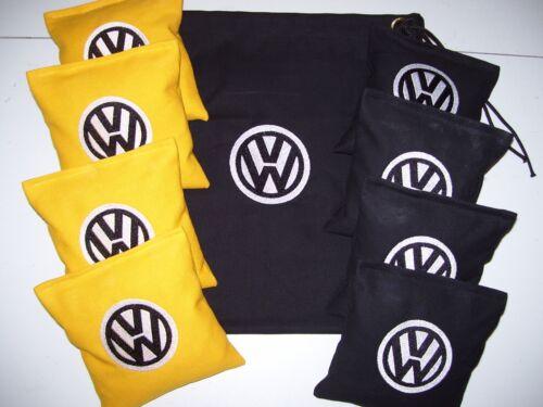 VW Embroidered Cornhole Corn Hole Set of 8 Bags W Storage Bag