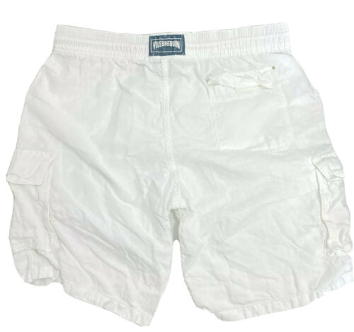 Authentic Vilebrequin Cargo Linen Bermuda Shorts M