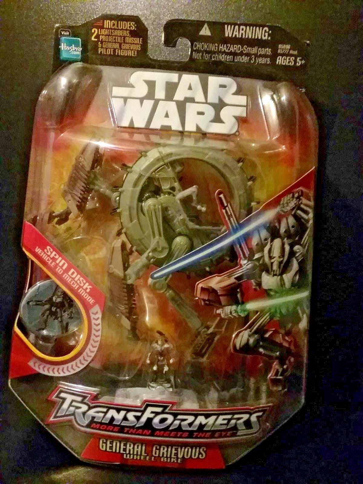 Star Wars Transformers General Grevious Wheel Bike 2006 1st version