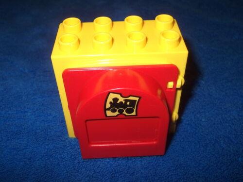 SCHEIBE MIT SCHLITZ 8er NOPPEN STEIN LEGO DUPLO 1 X FENSTER POST FENSTERSTEIN