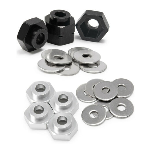 4pcs 12mm to 17mm Wheel Hex Hub Adapter Extension Set 5mm for 1//10 1//8 RC Car