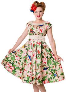 Rockabilly Nouveaux Le D'origine Style Afficher Robe 12 Titre 50 10 Up Pin Années Sur 16 50s Floral Détails A4jLR35