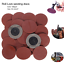 25Pcs 2/'/' 180 Grit Roll Lock Sanding Roloc Disc Sandpaper R-Type Abrasive Pads
