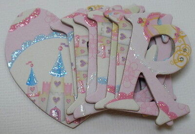 K /&  Company ~VALENTiNE FOiL~ Chipboard Letters Die Cuts /& Embellishments
