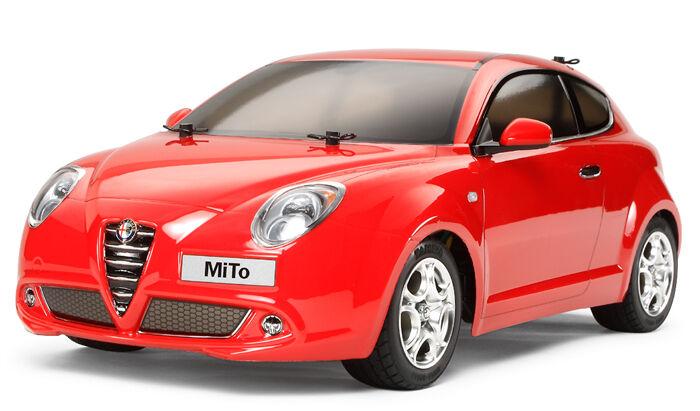 58453 Tamiya 1/10 R/C  ALFA ROMEO MiTo  w/ ESC Touring Car Kit M-05 Chassis