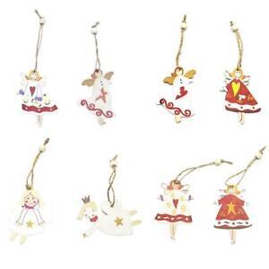 2XMerry-Christmas-Hanging-Decor-Xmas-Tree-Pendant-Wood-Crafts-Snowman-Ornaments
