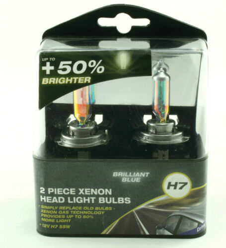 Brilliant Blue Xenon Effect H7 12v 55w Headlight Bulbs Twin Pack