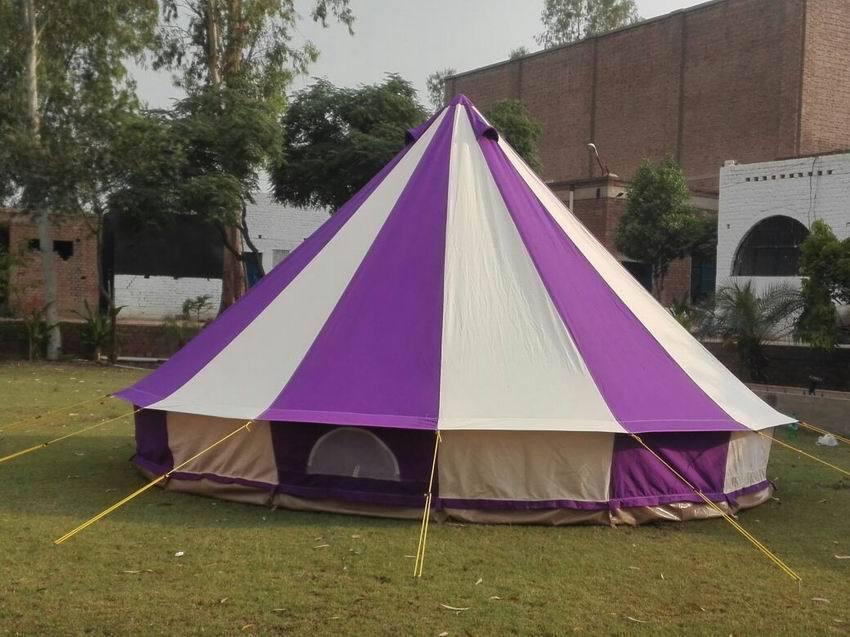 Bell tent 5 Meter 5M 400Ultimate ZIG Zipped-in-Groundsheet Purple 10 person tent