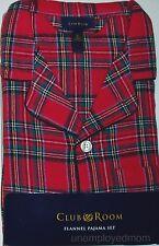 Flannel Pajamas Set Mens 2 pc Long Sleeve Pants Sleepwear Loungewear Button up