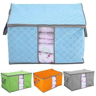 Fold Storage Bag Clothes Blanket Closet Quilt Sweater Bedding Sock Organizer Box