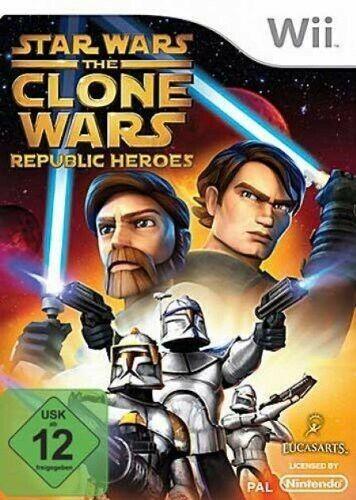 Wii - Star Wars: The Clone Wars - Republic Heroes dans l'emballage utilisé