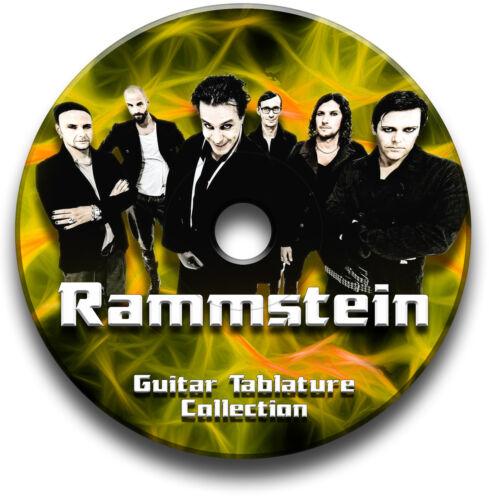 Rammstein Metall Rock Guitar Etiketten Tablature Lied BUCH Software CD