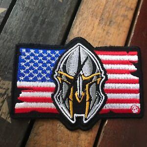 Spartan Helmet American Flag Patch