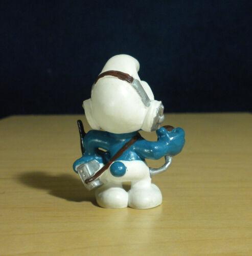 Smurfs CB Operator Smurf 20143 Radio Headphones Figure Vintage Toy PVC Figurine