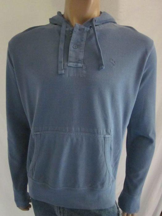 Polo Ralph Lauren Blau Mesh Hoodie Sweatshirt NWT