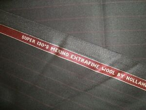 4-38-yd-HOLLAND-SHERRY-Wool-Fabric-9-oz-Extra-Fine-130s-Suiting-Black-158-034-BTP