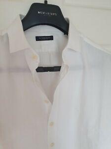 Para-Hombres-Camisa-Manga-Larga-por-Burberry-de-Londres-tamano-Grande-XL-Inmaculada-RRP-195
