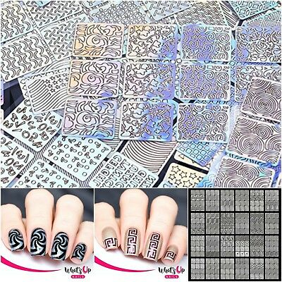 Nail Vinyls Art Design Stencil Sticker Sheets For Nails Decoration 288 Pieces 710560354863 Ebay