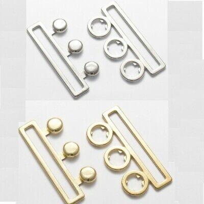 Antique Brass Detach Clasp Twist Click Bra Belt Bag Buckle Strap Webbing Elastic