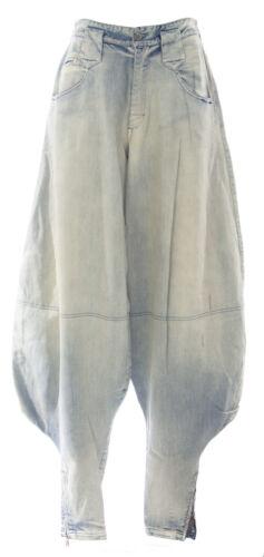 DIESEL Women/'s Light Wash NYF Harem Zipper Ankle Jeans #00AE9J NEW