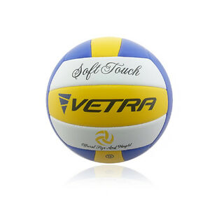 Vetra-Volleyball-Soft-Touch-Ball-Official-Yellow-Blue-White-Outdoor-Indoor-Game