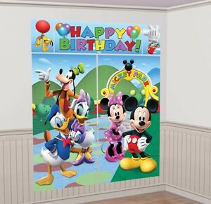 Image Is Loading MICKEY MOUSE CLUBHOUSE SCENE SETTER Birthday Party Wall